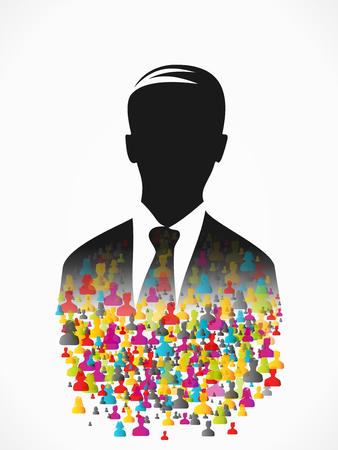 Leader profile illustration  Vector