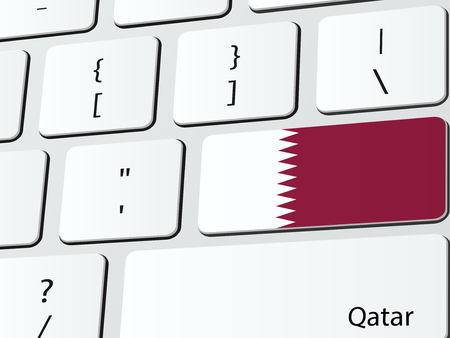 reservation: Qatari flag computer icon keyboard Illustration