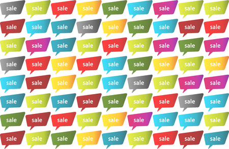 priced: Sale seamless colorful vector background Illustration