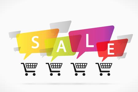 priced: Speech bubble sale Illustration