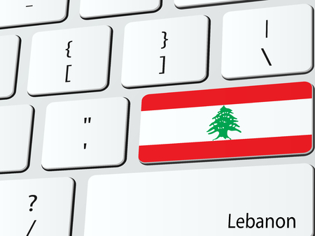 Lebanese flag computer icon keyboard Vector