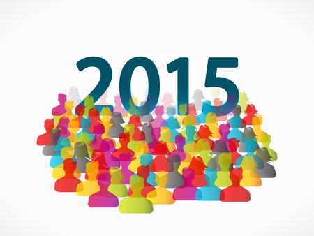 mensen groep: Abstract 2015 mensen groep illustratie