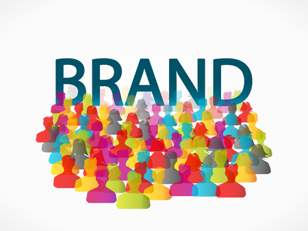 mensen groep: Abstract brand people group illustration