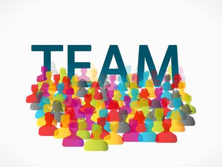 mensen groep: Abstract team mensen groep illustratie