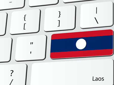 lao: Laotian flag computer icon keyboard