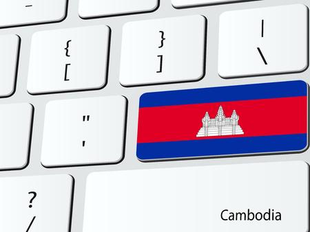 Cambodian flag computer icon keyboard Illustration