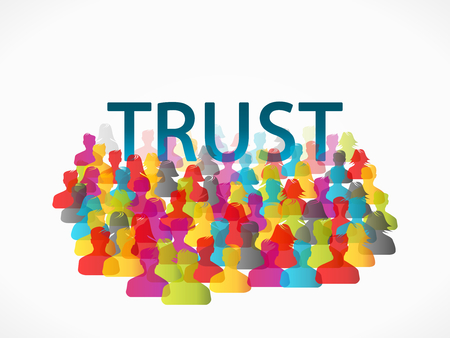 trust people: Abstract concept vector illustration about people trust Illustration