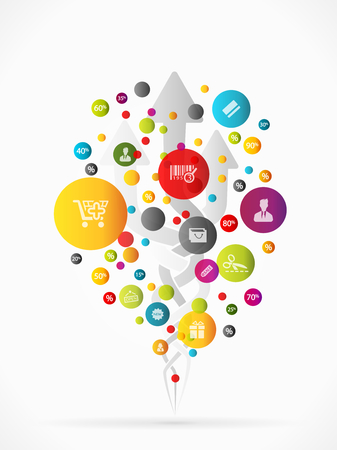 Abstract concept illustration about sale promotions