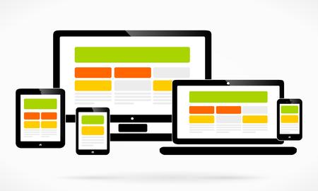 Responsive web design Ilustração
