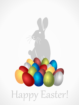 Easter bunny searching for Easter eggs Vector