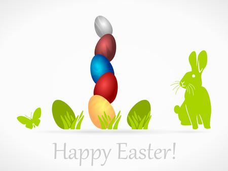 wishing card: Easter eggs wishing card illustration
