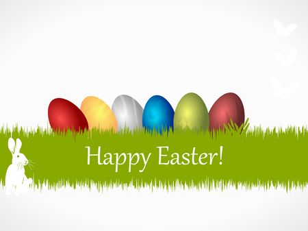 Happy Easter wishing card illustration Vector