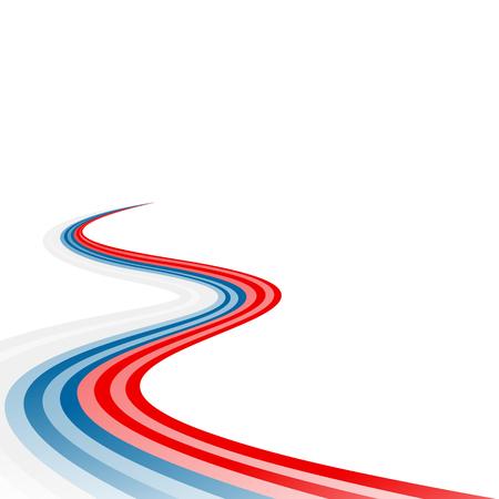 slovakian: Abstract waving white blue red ribbon flag