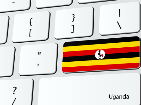 ugandan: Ugandan flag computer icon keyboard