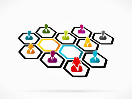 Abstract illustration of business networking