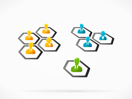 choosing: Abstract illustration of choosing business partners