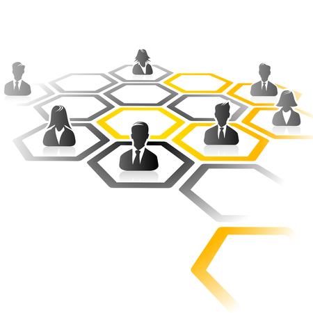 合併と買収のプロセスの抽象的なイラスト