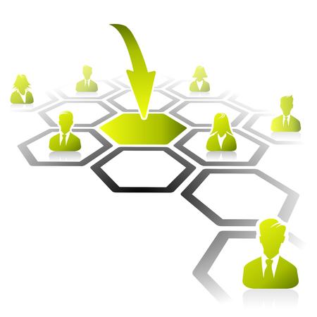 job opening: Resumen ilustraci�n de proceso de oferta de trabajo Vectores