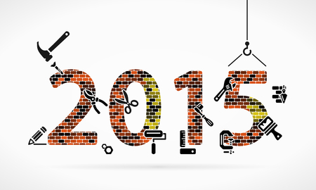 Build new year 2015 construction site