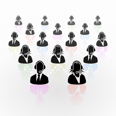 Real people call center business network