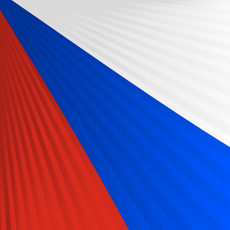 serbia flag: Abstract waving red blue white ribbon flag