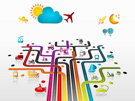 Résumé illustration avec des infrastructures de transport Banque d'images - 27239247