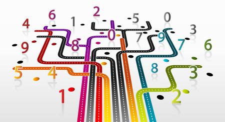 Abstracte illustratie met wiskunde infrastructuur