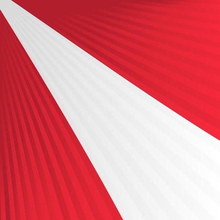 Abstract waving red white red flag Vector