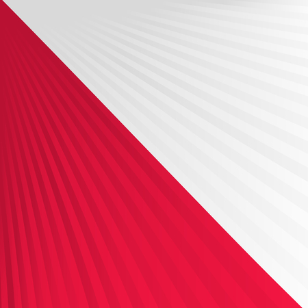 Abstract waving white red flag