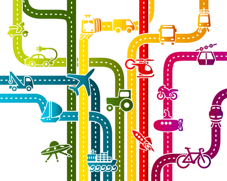 subway road: Abstract illustration with business transportation infrastructure