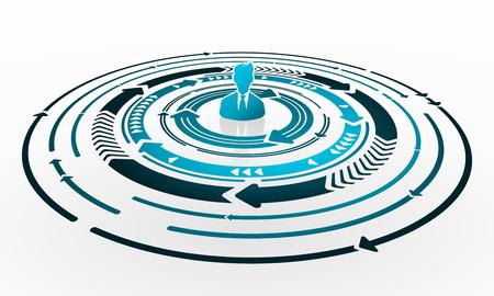 circulos concentricos: Habilidades Manager Resumen ilustración del concepto Vectores