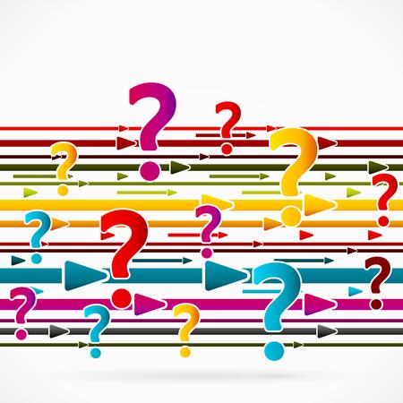 questioning: Abstrakt Pfeile Konzept �ber Frage-Umfrage