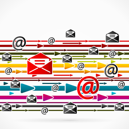 spam mail: Abstract arrows concept about spam mail