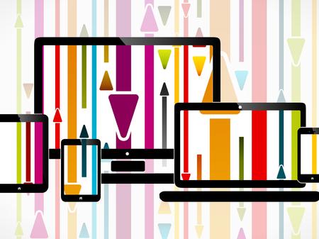 消費: メディア消費に関する抽象イラスト