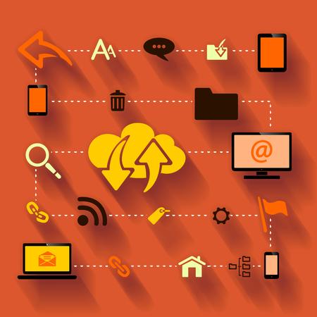 internet traffic: Internet traffic optimization Illustration
