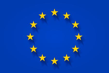 europa: European flag with golden stars Illustration