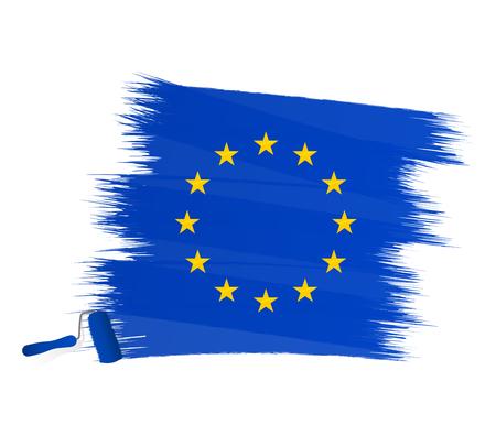 eu flag: Abstract blue stripes forming the European flag