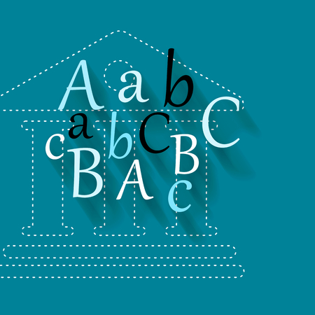 abc letters: Abstract illustration with abc letters