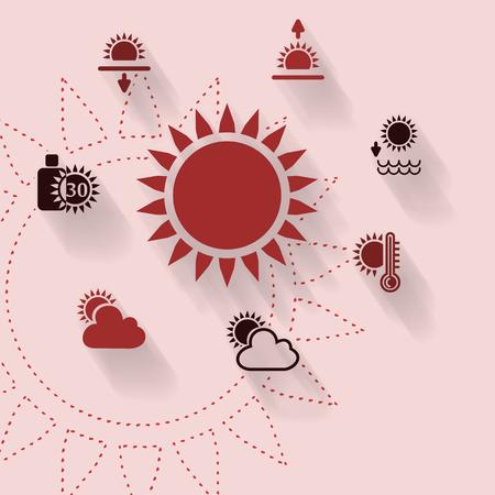 sun lotion: Ilustraci�n abstracta con el sol del verano