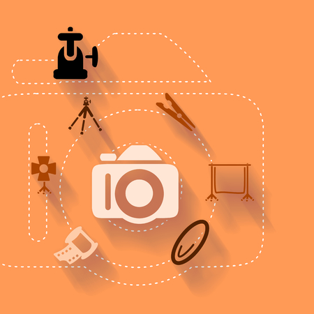 Abstract illustration with analog photography Illustration