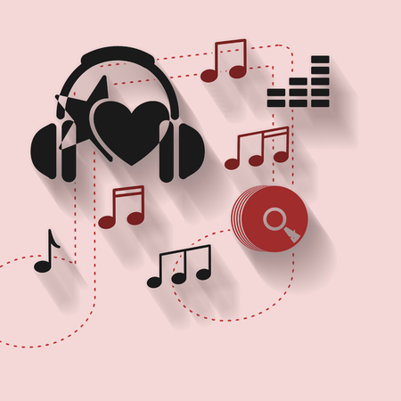 instrumental: Abstract illustration with music icons
