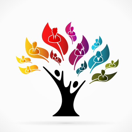 Abstract illustration  with business tree   Vector