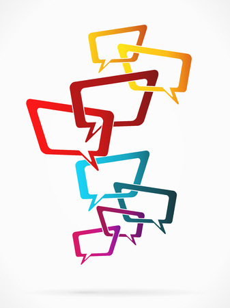 chat room: Abstract illustration with chat room