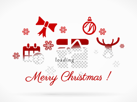 Merry Christmas loading  Vector