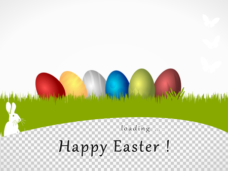 Happy Easter loading  Vector