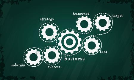 problem solution: Business strategy Illustration