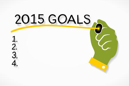2015 goals Vector