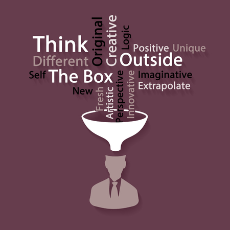 outside the box: Think outside the box word cloud