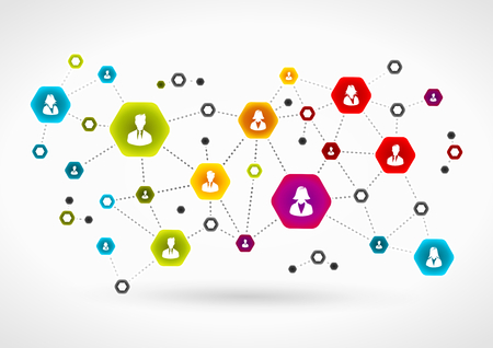 Business team network Vettoriali