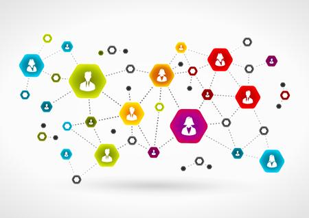 réseau d'équipe d'affaires